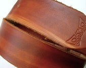 High quality leather belt / vegetable tanned leather / British Tan Snap Belt