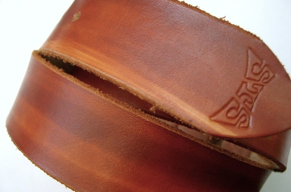 High quality leather belt - vegetable tanned leather - British Tan Snap Belt - snap leather belts for belt buckle -