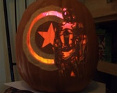 Captain America carved craft foam Pumpkin