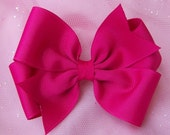 Custom Color You Pick 4 Inch Bows 6 Pack -- Large Pinwheel Style Hairbows -- You Choose the Colors