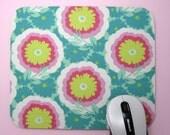 Buy 2 FREE SHIPPING Special!!   Fabric MousePad Joy Buttercups in Spearmint