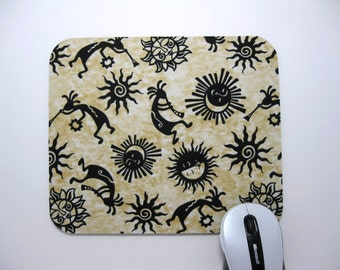 Buy 2 FREE SHIPPING Special!!   Mouse Pad,  Fabric Mousepad Southwest Kokopelli