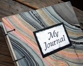Large Blank Handmade Journal Coptic Stitch Marbled Paper Art Journal