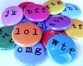 OMG Its LittleMommaErin's Text Abbreviation Magnets - Set of 13