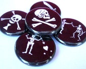 Pirate Flag Pins - Set of 5
