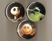 Nightmare Before Christmas Pins - Set of 3 - Cut From a Book