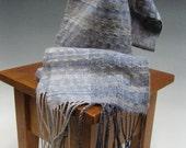 Handwoven Silk and Wool Scarf: Vapor