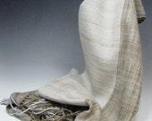 Handwoven Silk and Baby Camel Scarf: Wabi II