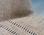 Handwoven Raw Silk Scarf: Nearly Nude Amid the Persimmons
