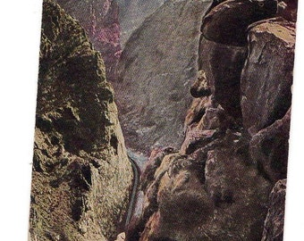 Vintage postcard from the 1930's of the Royal Gorge in Colorado