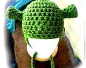 Crochet Shrek Hat with Earflaps