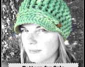 Crochet Pattern For Super Chunky Ribbed Newsboy Hat