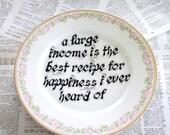 Jane Austen Quote Serving Plate