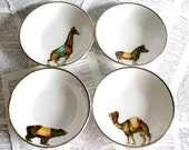As Seen on Apartment Therapy Circus animals Ironstone bowls