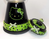 Black And Green Hello Kitty