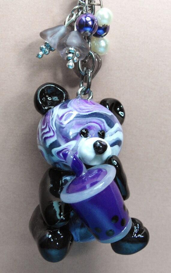 Bubbles Bear With Her Grape Bubble Tea