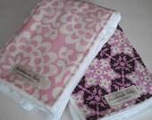 Balaboosta Baby Trendy Burp Cloth Duo - Pink Mosaic Amy Butler READY TO SHIP