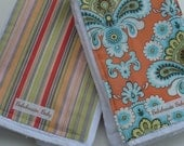 Balaboosta Baby Trendy Burp Cloth Duo - Orange French Belle Amy Butler