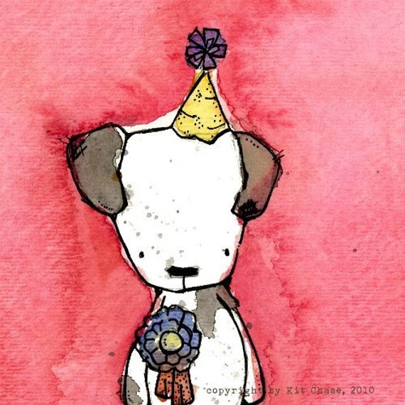 Oliver the Toy Dog  an 8x8 Children's Art Print from the Circus Troupe collection