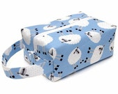 Stitched by JessaLu Box Bag - Sheep Toss in Blue