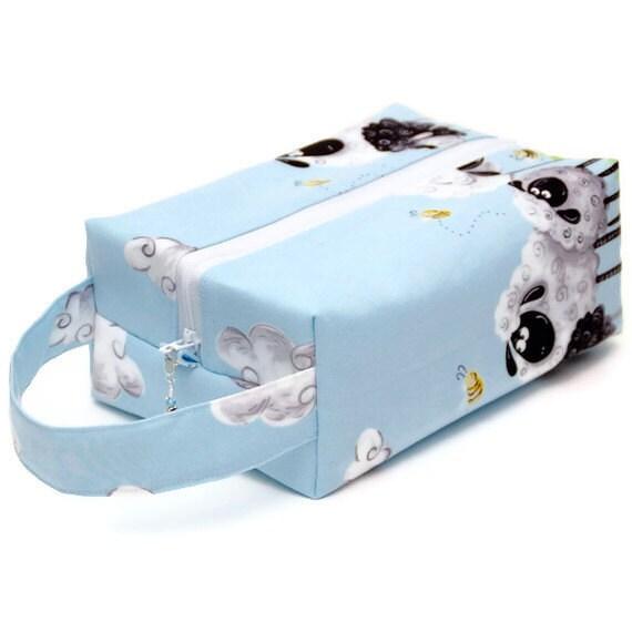 Project Bag Boxy Knitting Bag - Sheepy Bees