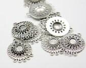 10pcs Oxidized Silver Tone Base Metal Earring findings - 24x19mm (2752X-E-275A)