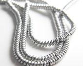 90pcs Czech Glass Beads Round Flat - Metallic Silver 4mm (PG3380600)