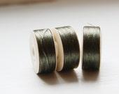 2 Bobbins of Nymo Nylon Beading Thread-Olive (Size B)