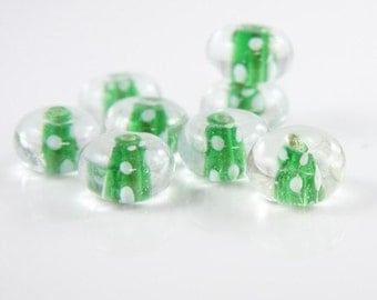 6pcs limited edition lampworked glass beads-Rondelle 18x11mm (40Z-1)
