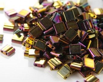 10 Grams Japanese Miyuki Tila Beads-Flat Square 5x5x.19mm (TL462)