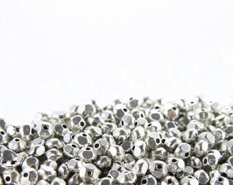 100pcs Oxidized Silver Tone Base Metal Spacers-5x3mm (1221X-D-142A)