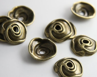 12pcs Antique Brass Tone Base Metal Findings-Cap 20x5mm (13161Y-P-7B)