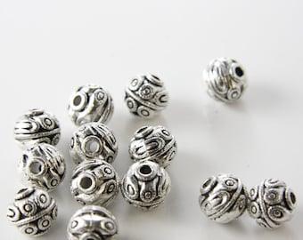 6 Pieces Oxidized Silver Tone Base Metal Spacers-12x11mm (2562X-D-79A)