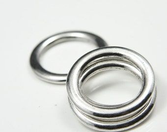 4pcs Oxidized Silver Tone Base Metal Rings- 28mm (11678Y-B-8A)