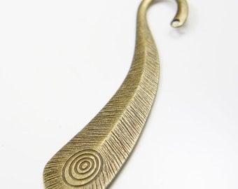 4pcs Antique Brass Tone Base Metal Bookmarks-105x23mm (15571Y-H-186B)
