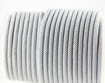 3 Feet Grey Braided Fabric Cord-Round 4mm (ML221401620)