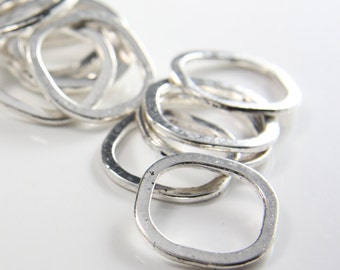 14pcs Oxidized Silver Tone Base Metal Rings-25mm (25661Y-H-87A)