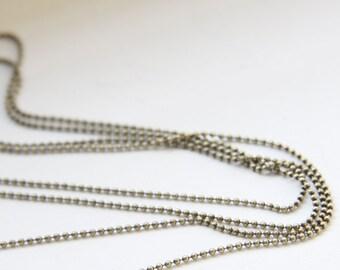 6 Feet Oxidized Brass Chains-Ball 1mm (424C02)