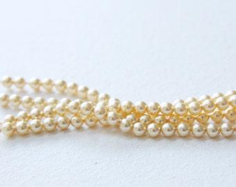25pcs Swarovski 5810 Crystal Pearl-Gold 4mm (SWP19001)