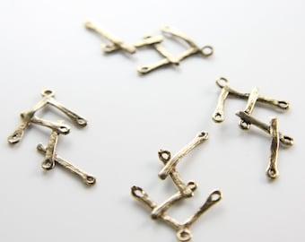 4pcs Antique Brass Tone Base Metal Links-29x16mm (6778Z-H-238)