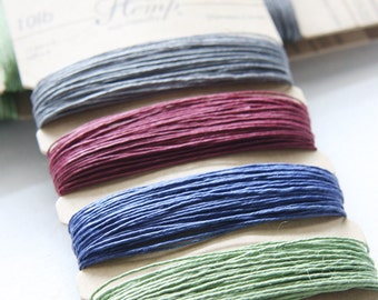 1 Package of Pastel Colors Hemp -  4 colors of  41.9 feet -  0.5mm -10lb (101005)