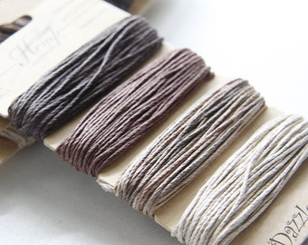 1 Package of Natural Earthy Color Hemp -  4 colors of  29.9 feet -  1mm -20lb (101100)