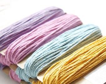 1 Package of Pastel Colors Hemp -  4 colors of  29.9 feet -  1mm -20lb (101104)