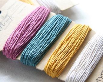 1 Package of Spring Colors Hemp -  4 colors of  29.9 feet -  1mm -20lb (101107)