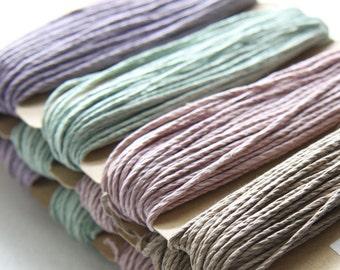 1 Package of Vintage Colors Hemp -  4 colors of  29.9 feet -  1mm -20lb (101106)