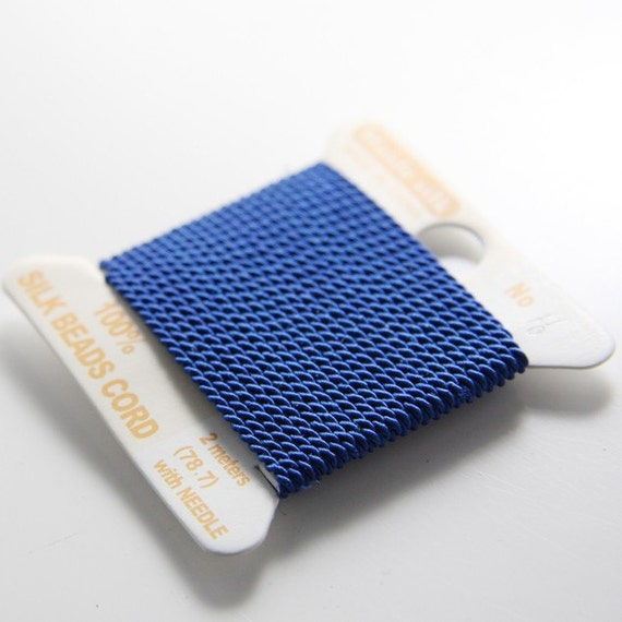 2 Meters Silk Thread With Needle-Blue No.16