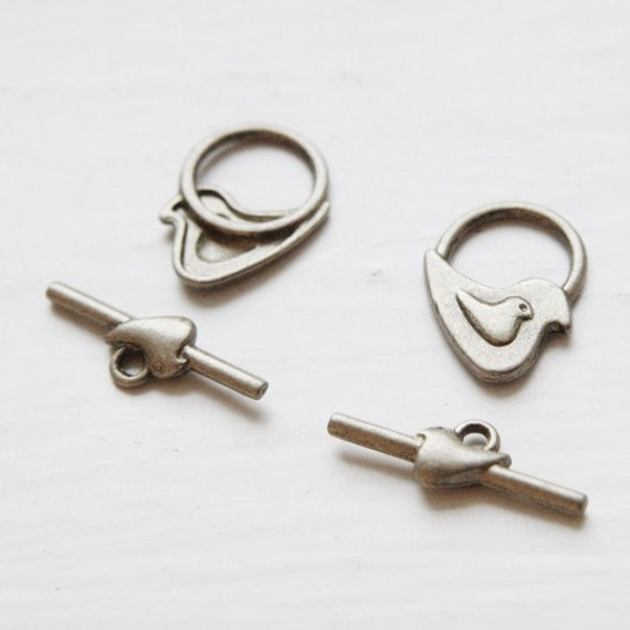 12 Sets Antique Brass Tone Base Metal Clasps-Toggle (13073Y-K-189B)