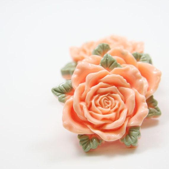 4pcs Acrylic Flower Cabochons-Tangerine 42mm (F0002-A-12)