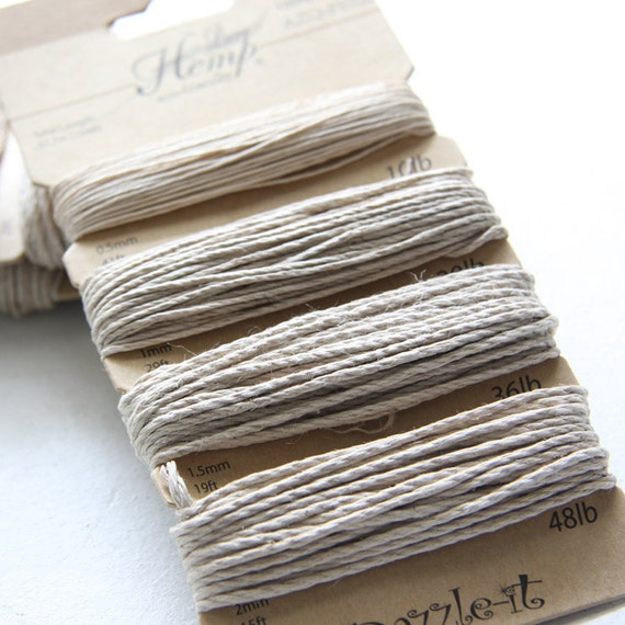1 Package of Natural Assorted Hemp - 104 feet -10b-20lb-36lb-48lb (101200)