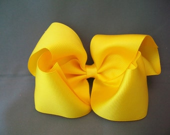 BIG Yellow Hairbow with No Slip Grip